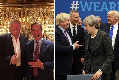 Donald Trump Nigel Farage Boris Johnson