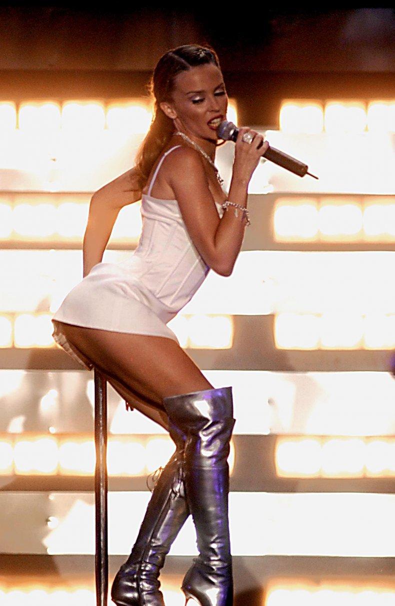 Kylie Minogue Brit Awards 2002