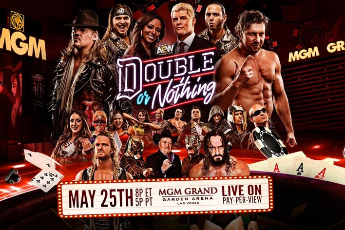 aew double or nothing poster start time how to watch online
