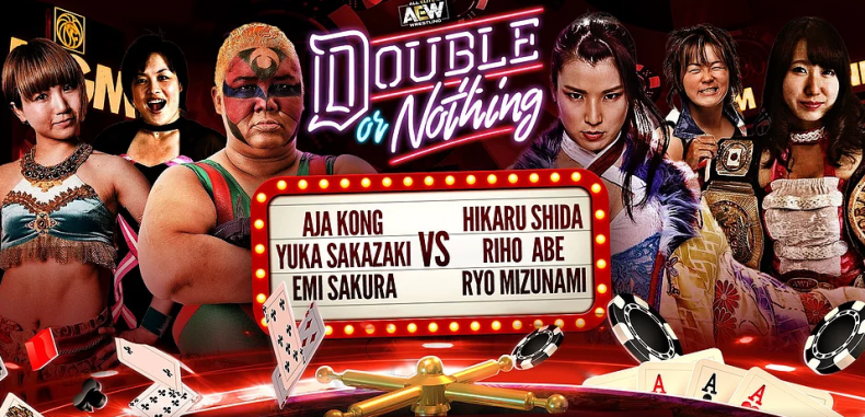 six women tag match double or nothing
