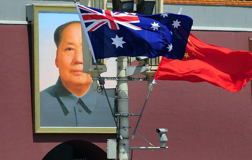 Australia China Flags Politics