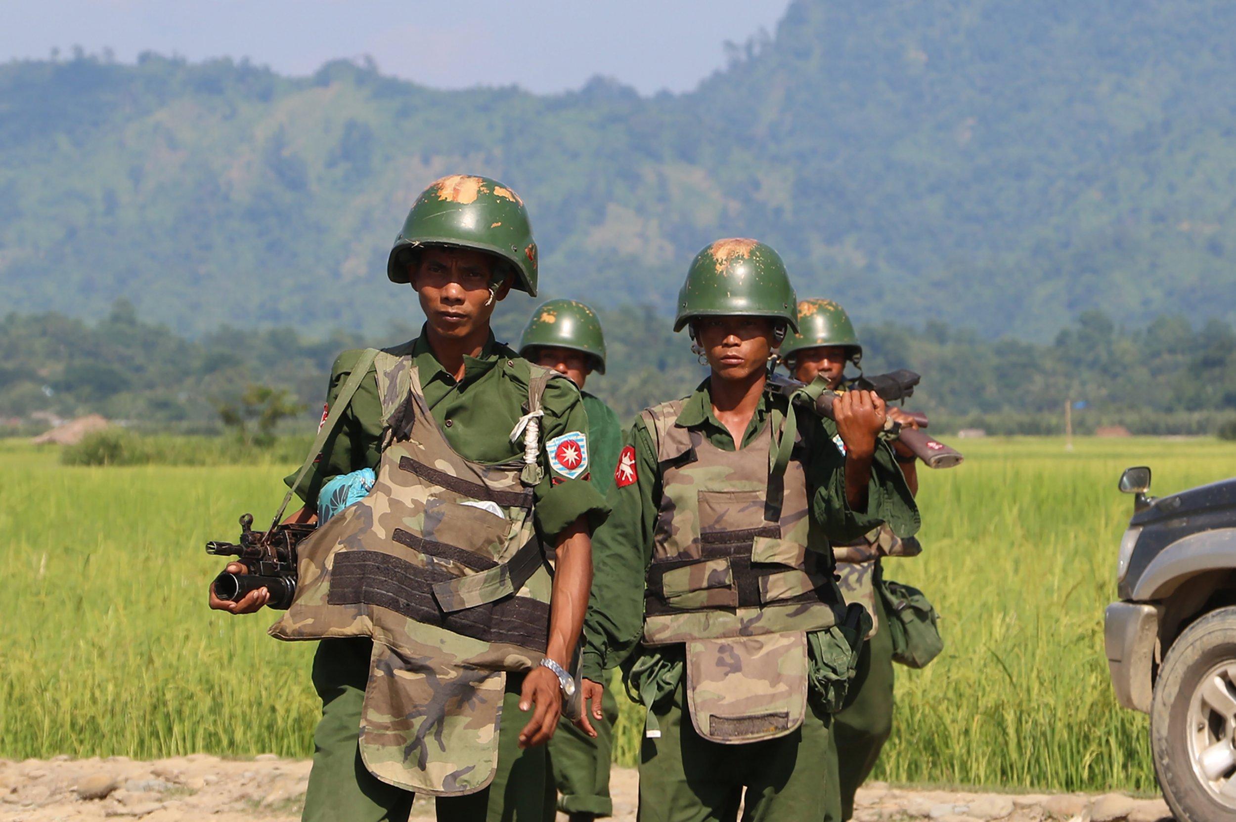 Myanmar soldiers Muslim massacre journalists Rohingya