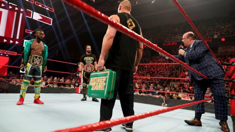 wwe monday night raw live results brock lesnar may 27 seth rollins kofi kingston