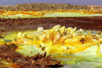 Dallol hot spring