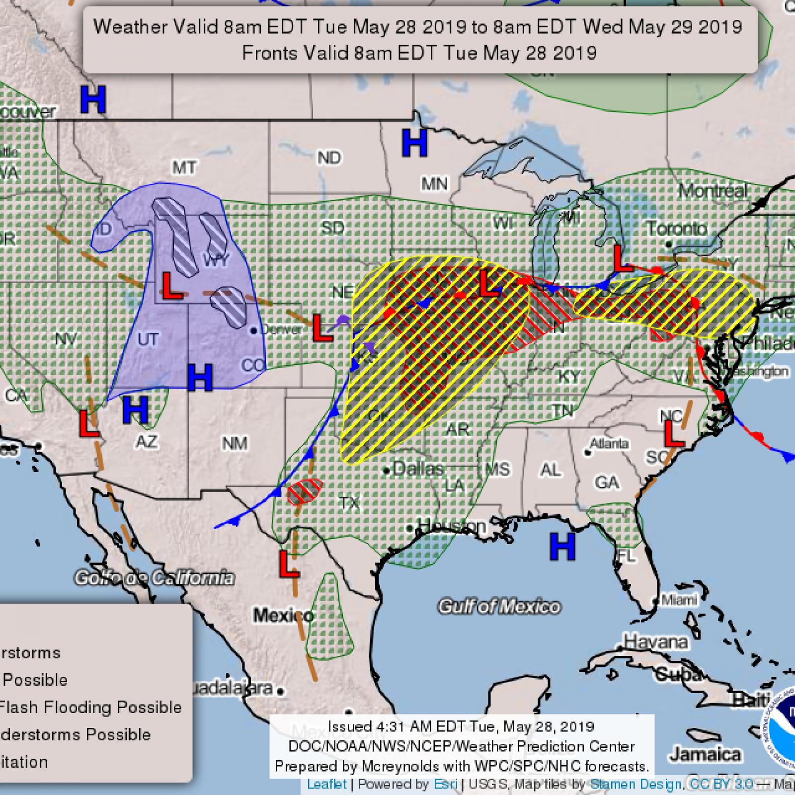 Tornado Path Map Update: Ohio Valley, Kansas, Oklahoma, Iowa ...