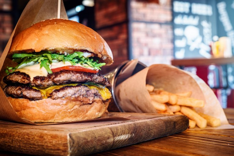 burger cholesterol stock getty