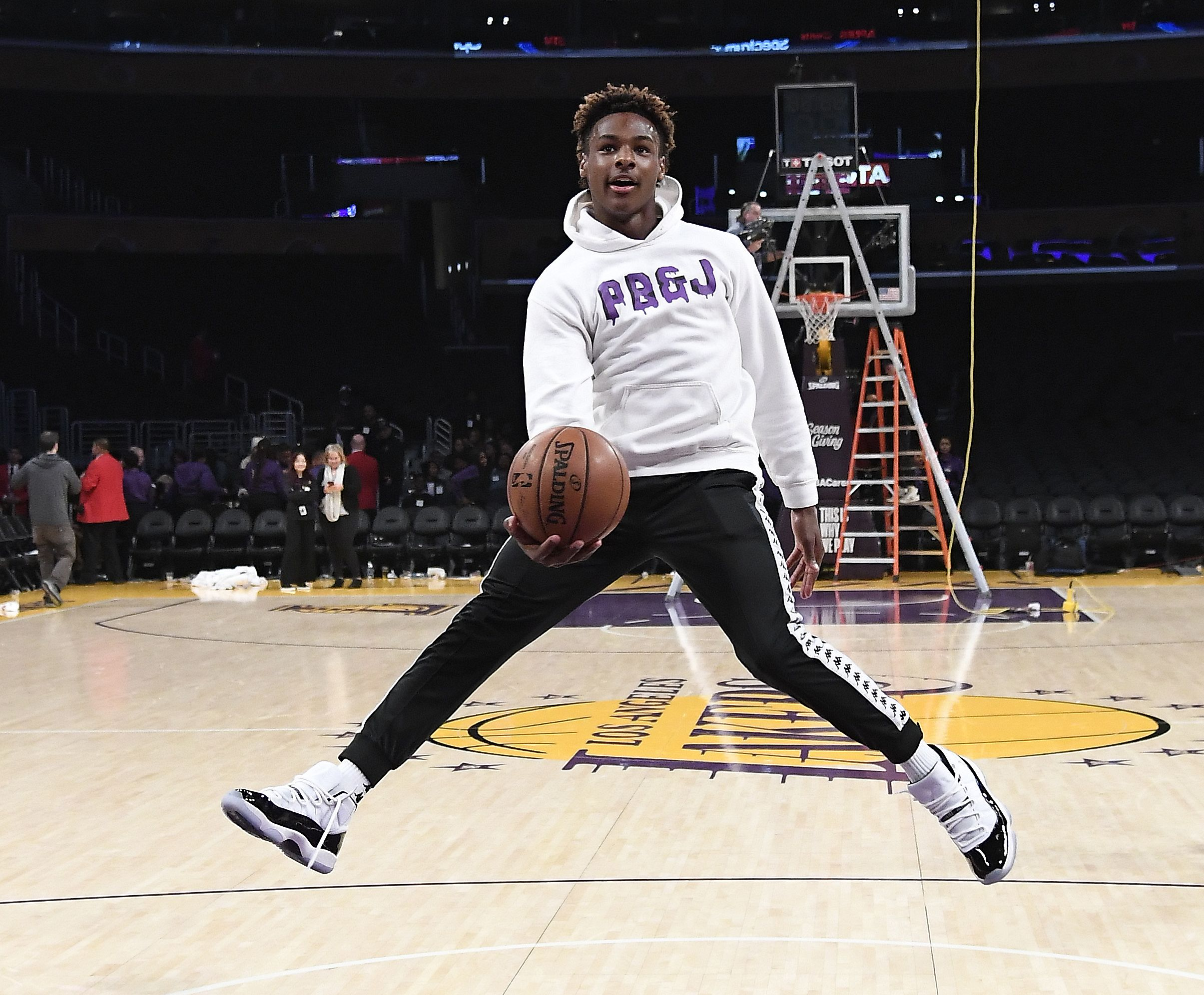 sports shoes c548e defc3 Who Is Bronny James? 1 Million Followers On Instagram Say ...