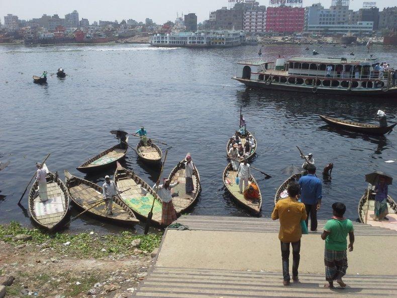 Boatmen on Buriganga waiting for passengers
