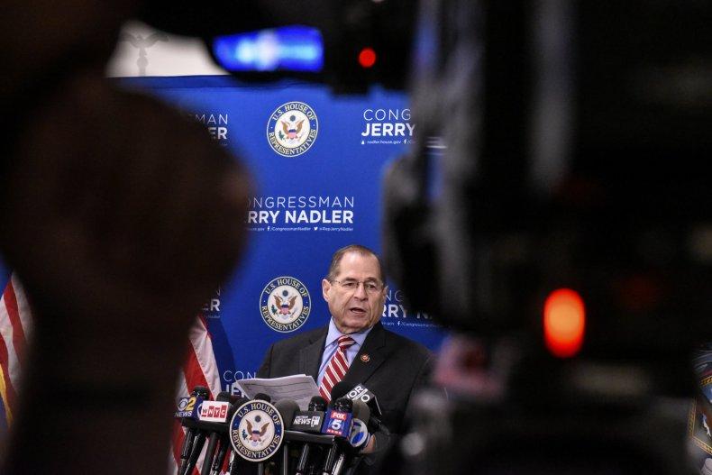 Jerrold Nadler Backs down on threat to subpoena Robert Mueller