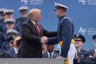 trump air force graduate parker hammond