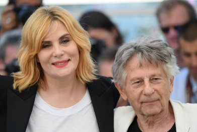 "Director Roman Polanski and actress Emmanuelle Seigner attend the ""Based On A True Story"" photocall during the 70th annual Cannes Film Festival at Palais des Festivals on May 27, 2017 in Cannes, France."