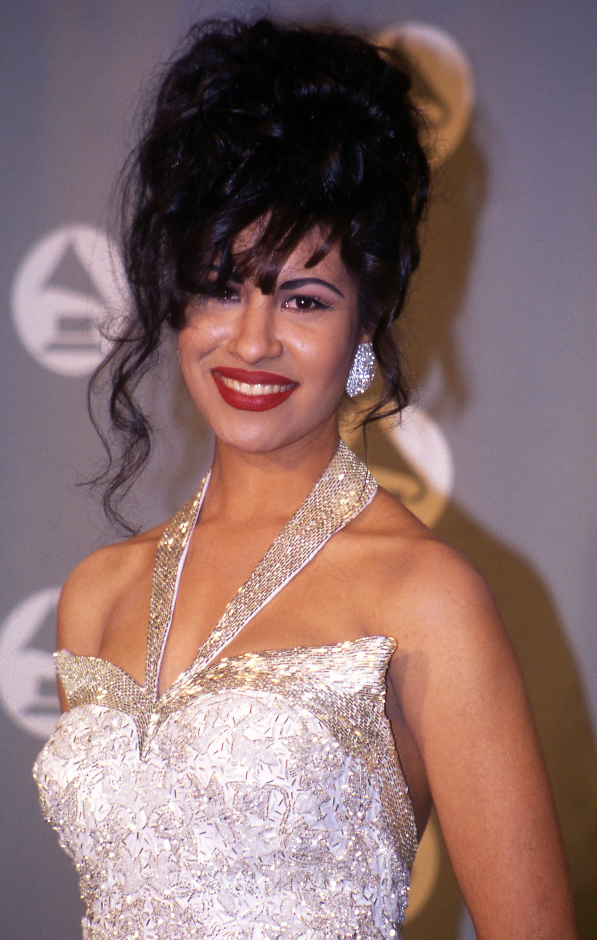 Selena in the press room at the 1994 Grammy Awards in New York City, New York