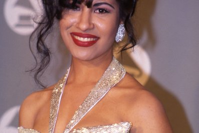 Selena in the press room at the 1994 Grammy Awards in New York City, New York
