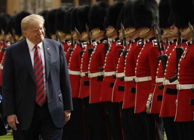 Donald Trump, state visit, UK, Queen, protests, Windsor