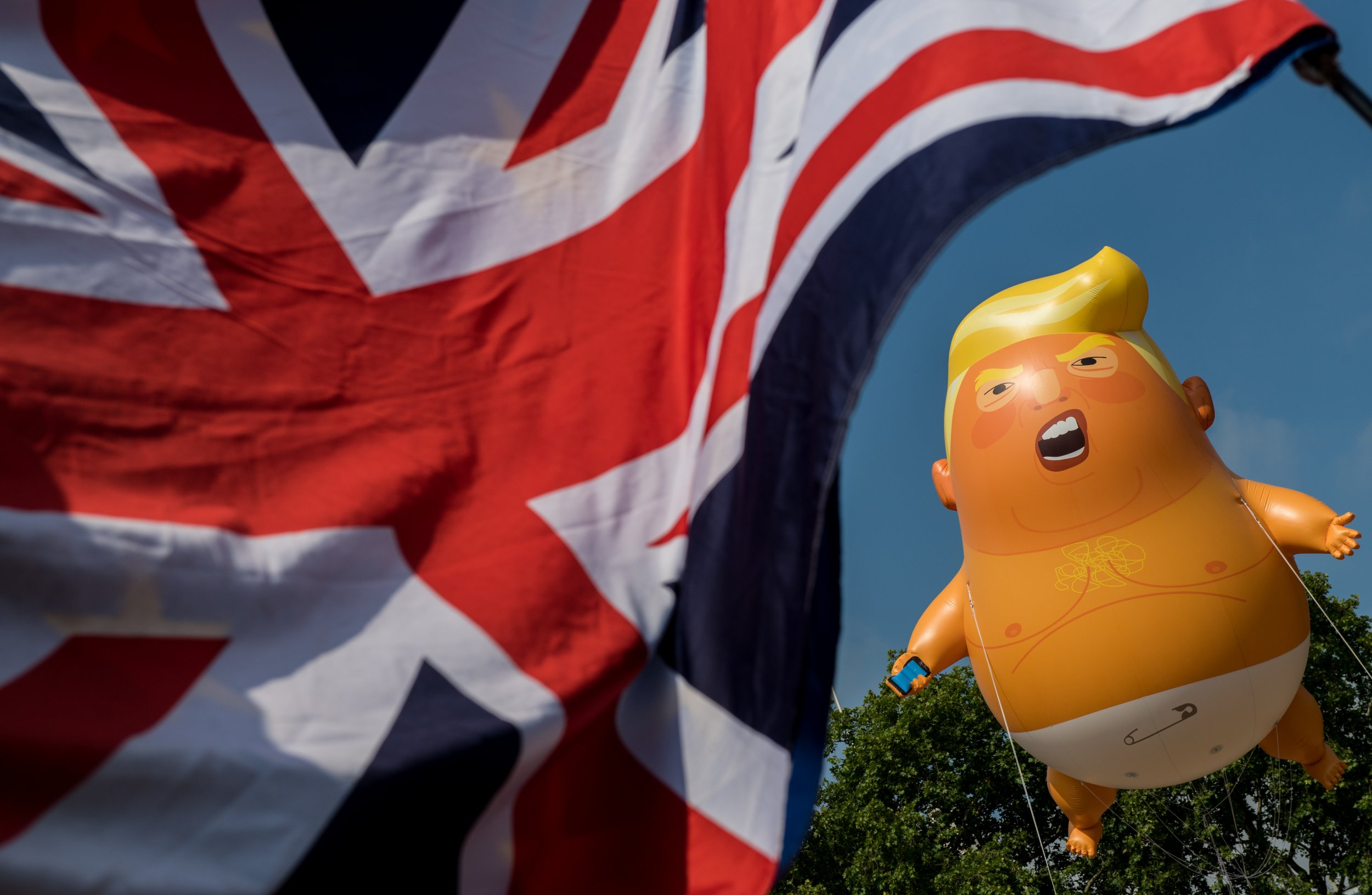 Trump baby, London, UK, protests, state visit