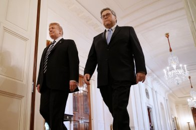 William Barr disagreed with Mueller Legal opinions, instead used right law