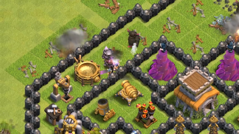 Clash of clans pekka king in game