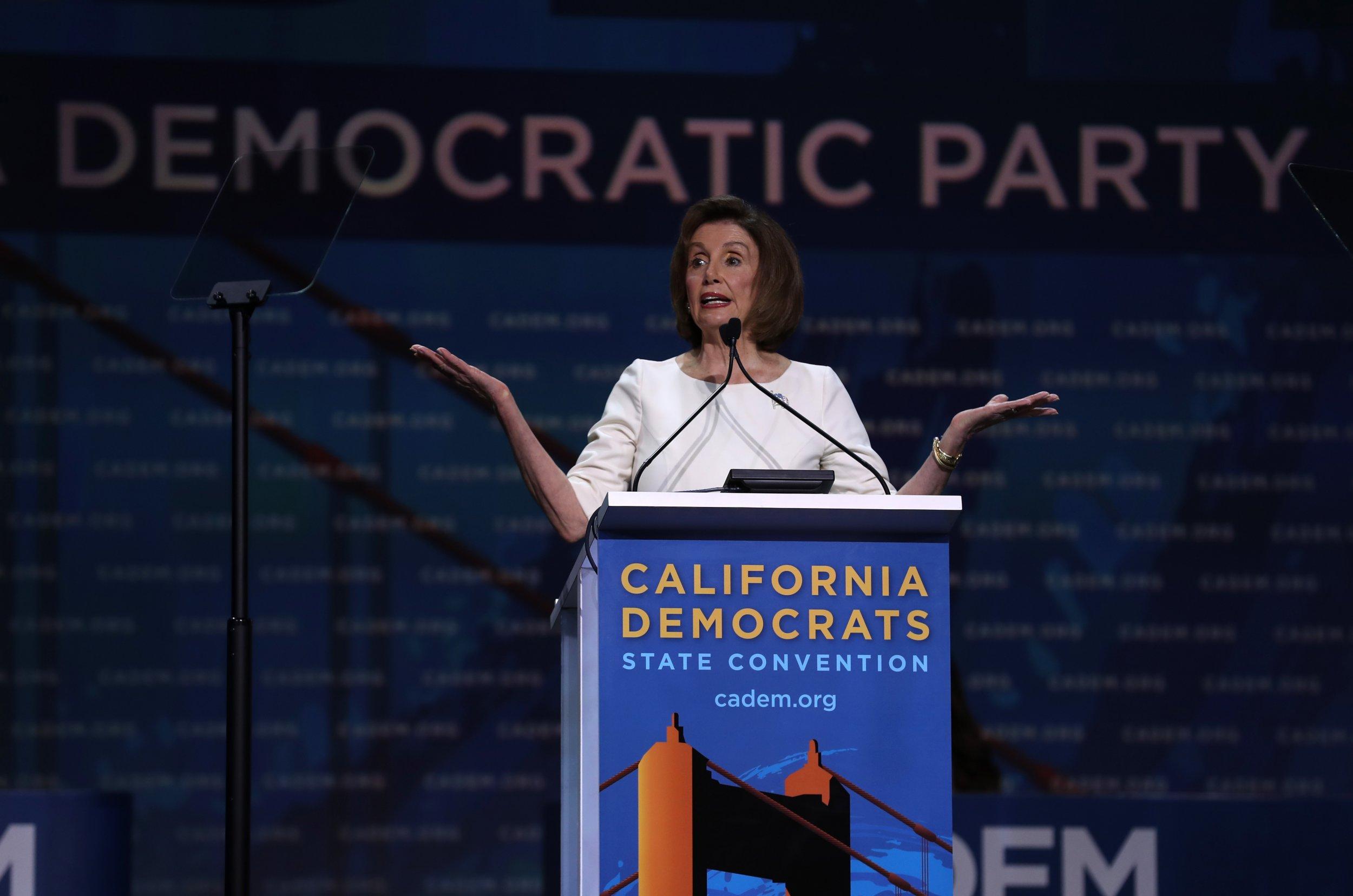 pelosi impeachment california democrats