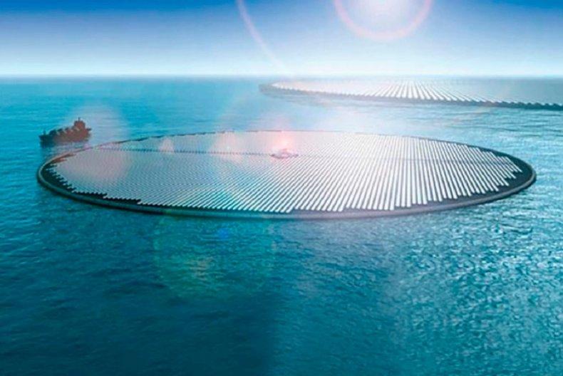 Solar methanol island