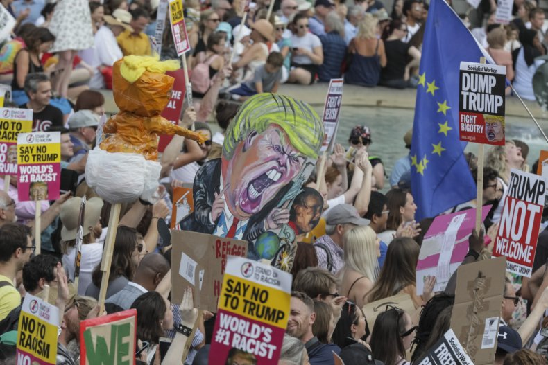 Donald Trump, UK, protests, London