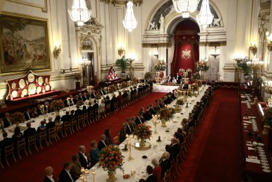 Queen Elizabeth II, Banquet, State Dinner