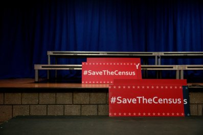 Save the census signs