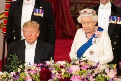 Donald Trump, Queen Elizabeth II, state visit,banquet