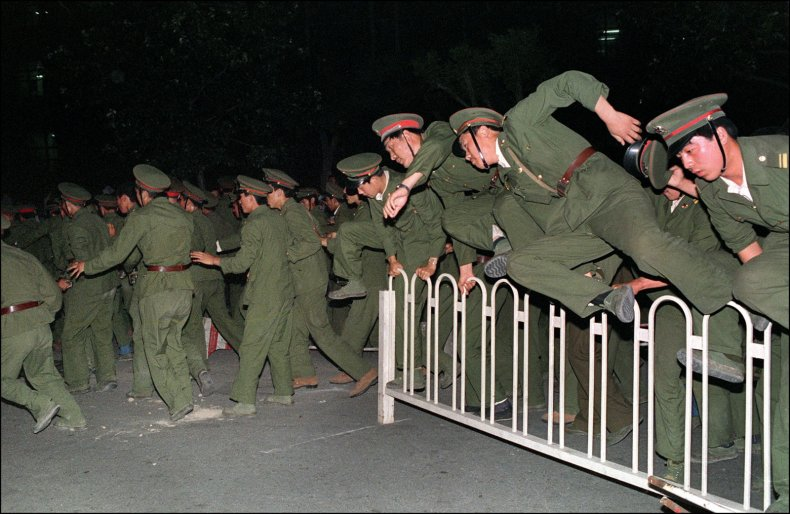 Tiananmen Square PLA 30 Year Anniversary