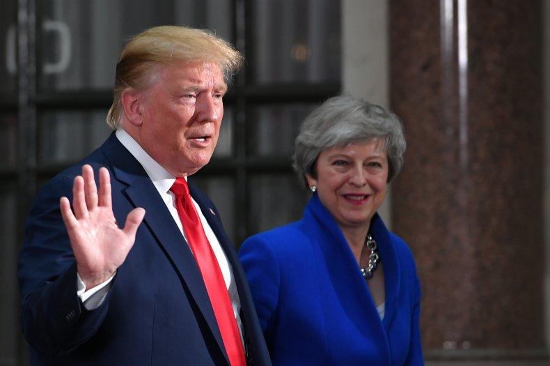 Donald Trump Theresa May Jeremy Corbyn