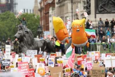 London Protests Against Trump