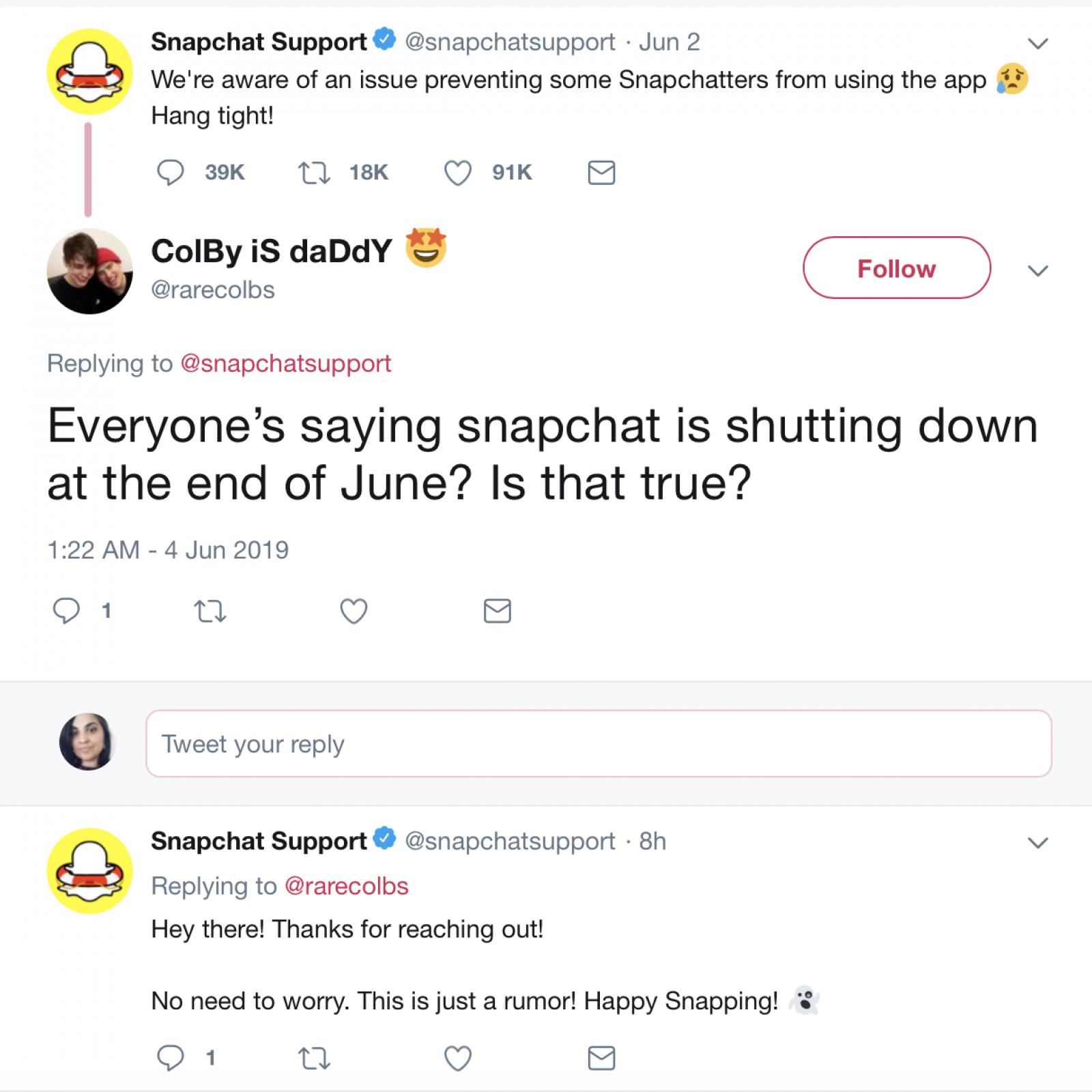 No, Snapchat Isn't Shutting Down: Rumors Of June 2019 Shutdown Are