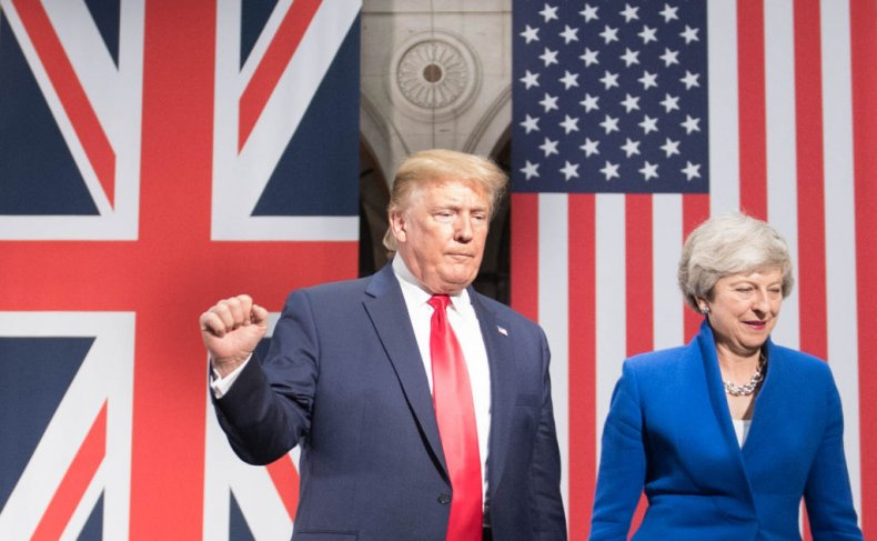 Trump meets with May