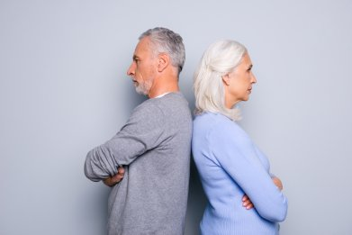Gray divorce stock photo