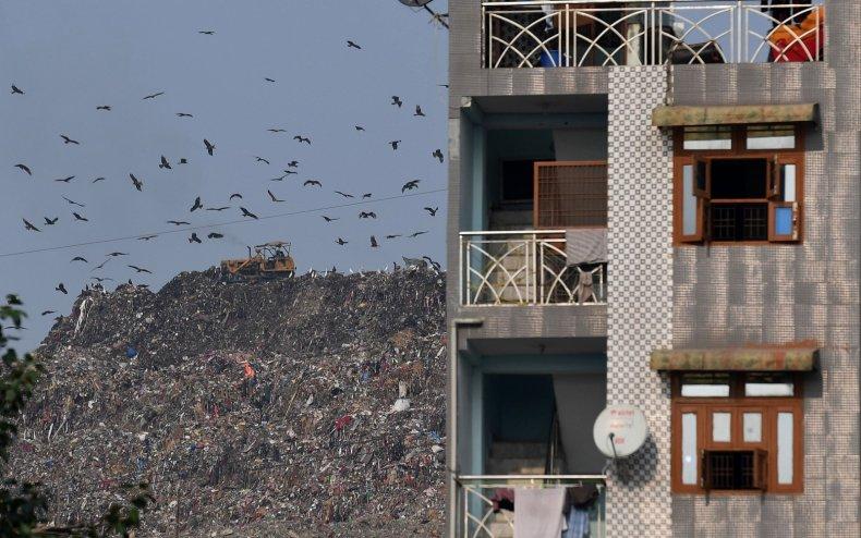 ghazipur landfill New Delhi trash india rubbish