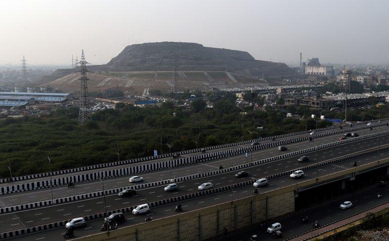 Ghazipur landfill New Delhi India