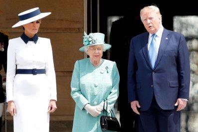 Donald Trump, Queen Elizabath II, UK Visit