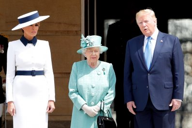 Donald Trump, Queen Elizabath II, UK Visit