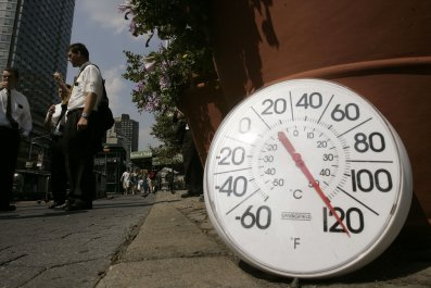 new york city heat wave thermometer