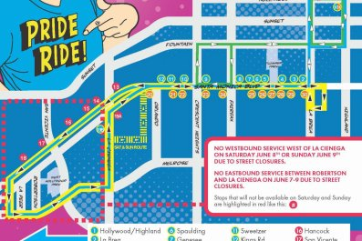 LA Pride Parade Route Public Transport