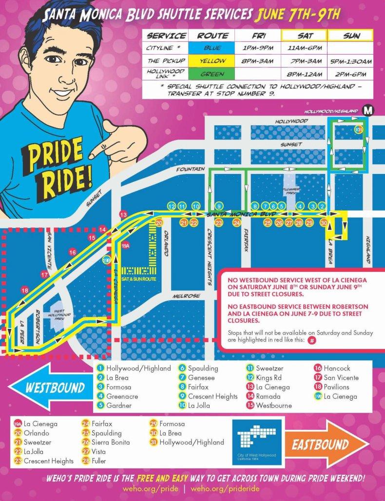 LA Pride Parade Route Public Transport