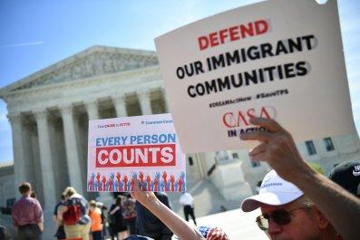 Immigration protest Supreme Court U.S.