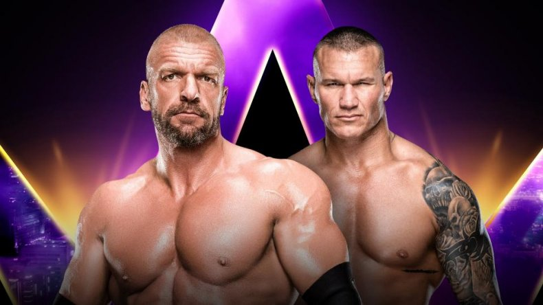 super showdown triple h randy orton