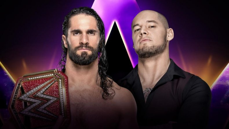 super showdown seth rollins baron corbin
