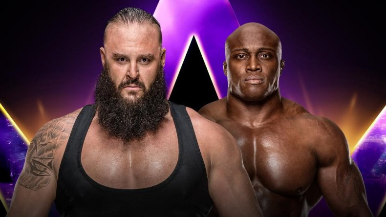 super showdown braun strowman bobby lashley