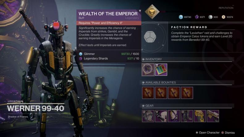 destiny 2 wealth of the emperor