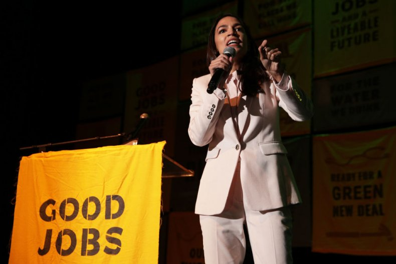 Alexandria Ocasio-Cortez speaks about Green New Deal