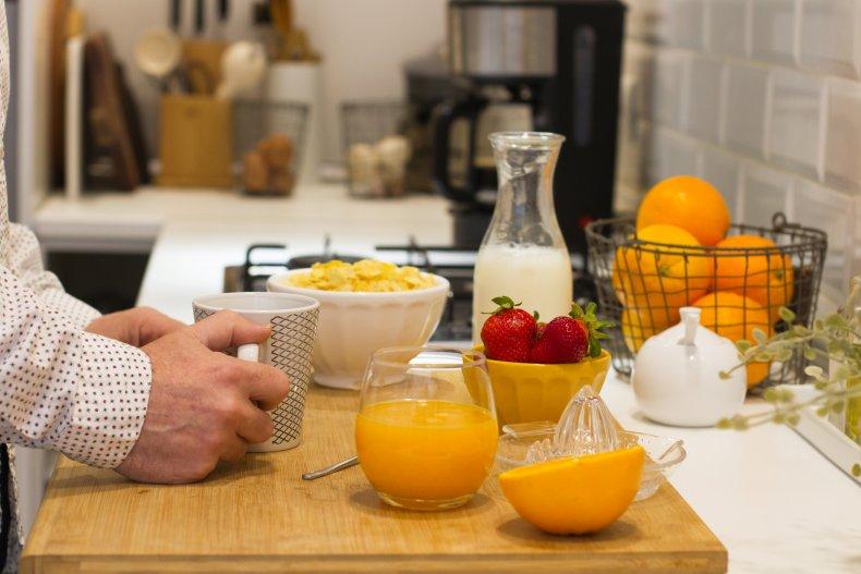 fruit juice milk coffee tea