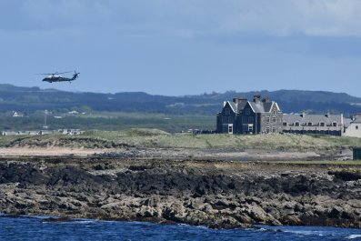 President Trump Concludes Stay In Doonbeg