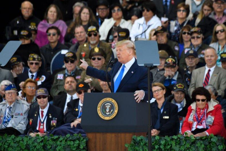 Trump gives D-Day speech