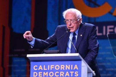 Bernie Sanders deliver speech in California